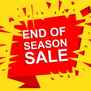 End of season sale at Canmore Home Hardware.
