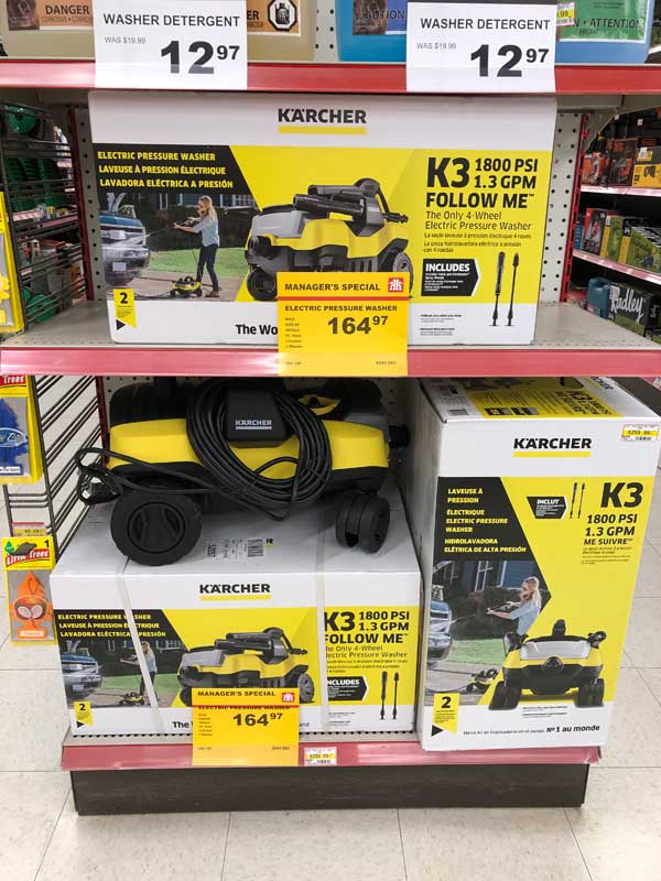 Electric pressure washer sale at Canmore Home Hardware.